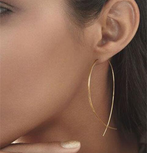 Fashion Handmade Fish Shaped Hoop Copper Wire Earrings Dangle for Woman