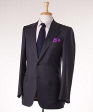 NWT $6325 BRIONI Solid Charcoal Gray Super 150s Wool Suit 36 R (Eu 46) Handmade