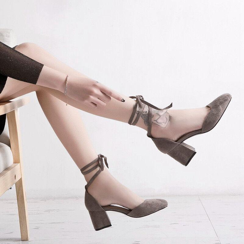 Decolte 6 cm eleganti grigio tacco quadrato  9910 Sandale simil pelle 9910  597568