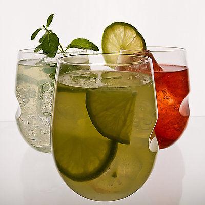 Govino 12 Oz Cocktail or Wine Glasses Flexible Shatterproof Reusable SET OF 4