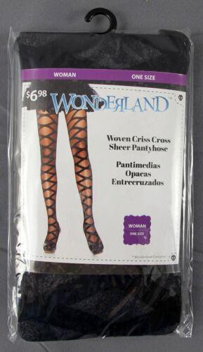 Woven 100 Sheer 5x Cross 8402981006095 Wonderland nylon Nip Pantyhose Criss Taglia unica Donna OzH5fHqwx