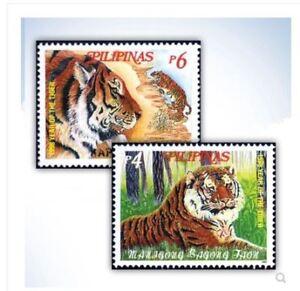 Philippines-Tiger-Stamp-2pcs-UNC