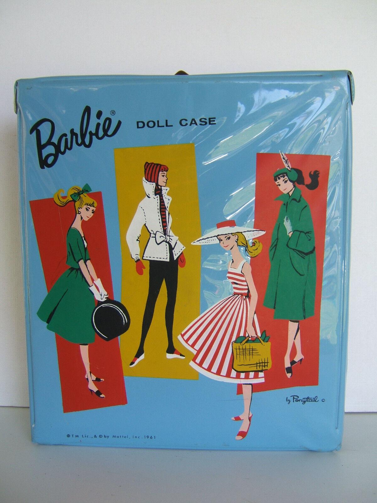 Vintage 1961  +  Funda De Muñeca Barbie  +  'Azul Claro'