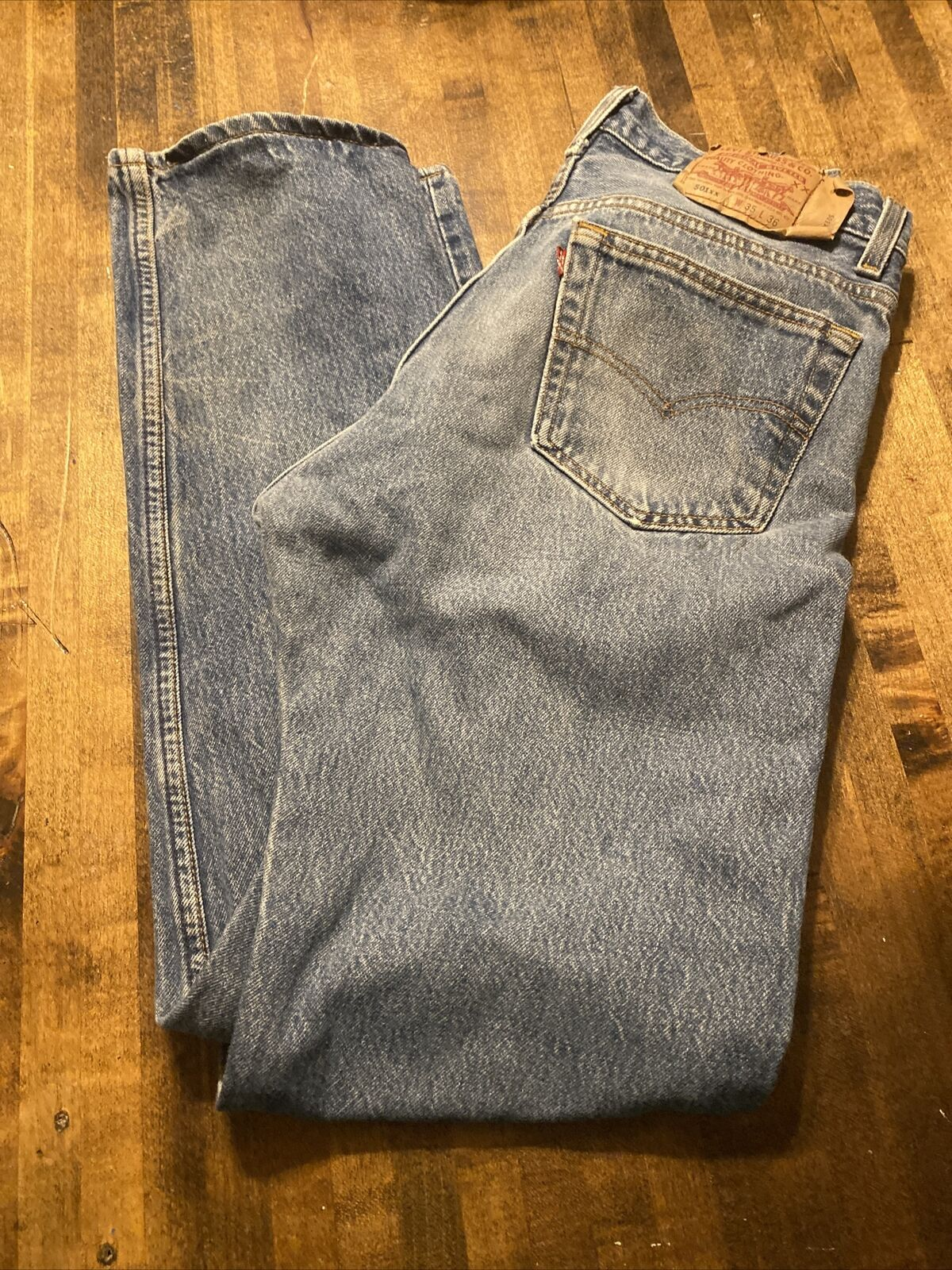 vintage levis 501xx made in usa 35x36 Fits 32x32 - image 3