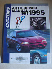 Chilton's 1991-1995 Domestic Auto Car Repair Manual U.S and Canadian Models