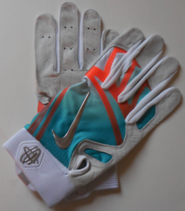 c5983a75fb52 Image is loading Nike-Huarache-Elite-Batting-Gloves-Turbo-Green-Orange-