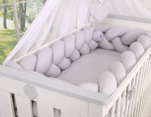 XXL Geflochtenes Nestchen Kopfschutz Bettschlange Kantenschutz Bettumrandung