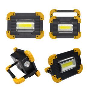 LED-Akku-Strahler-Arbeitslampe-20W-COB-Camping-Lampe-Aufstellen-Scheinwerfer