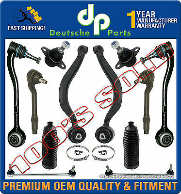 Control Arm Ball Joint Tie Rod Sway Bar Subframe Mount Kit 16 pc for BMW E32