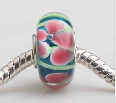5pcs Glass Bead lampwork Fit European Charm Bracelet