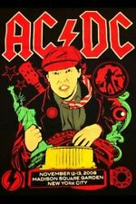 AC/DC CONCERT SHIRT Madison Square Garden Nov. 12/13 2008 , XL NEW MINT . Rare