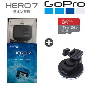 GoPro Hero7 Silver - 4K30 1080P60 HD Camera + 32GB SD + Suction Cup BNIB