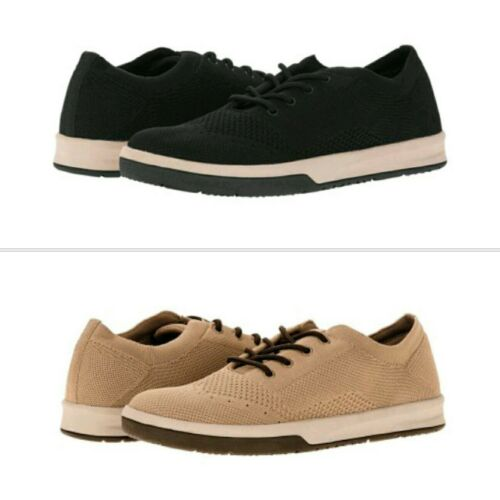 7-13 George Men/'s Black or Tan Memory Foam Lace-up Casual Sneakers//Shoes