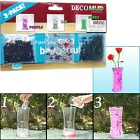 3 Packs Of Water Beads, Grow In Water Purple Green And Mix