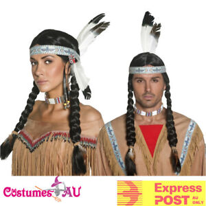 Image Is Loading Uni Native American Indian Maiden Pocahontas Wig Plaits