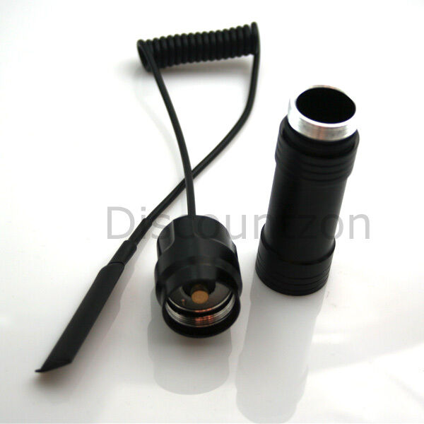 18650 Battery Extension Tube + Remote Pressure Switch for Ultrafire C8 LED Torch