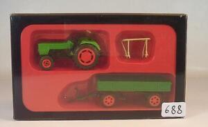 Preiser H0 Nº 17914 Deutz D 62 06 Avec Remorque Tracteurs Neuf Dans Sa Boîte #688-afficher Le Titre D'origine Pour RéDuire Le Poids Corporel Et Prolonger La Vie