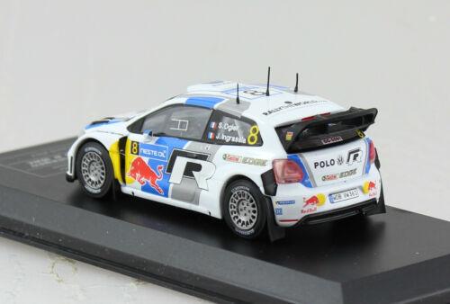 VW Polo R WRC Rally 2013 #8 1:43 la Ixo cast club maqueta de coche