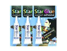 3PC 7g 0.25oz Dark Star Eyelash Glue Waterproof Adhesive False Lashes Eyelashes
