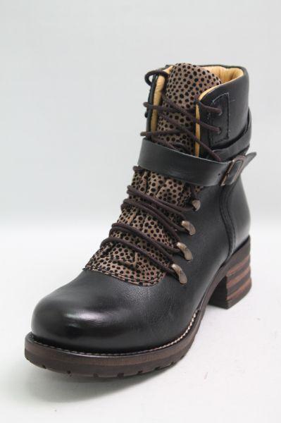 Brako Schuhe schwarz Leder Applikation Wechselfußbett