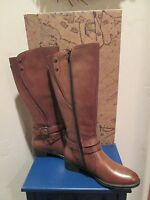 Bussola Style Madrid Tan Leather Riding Boots Womens Shoes Sz 35 - 5-5.5 Us