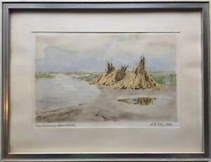 Aladar-edvi-Illes-1870-1958-Grain-Crouching-on-Lake-Neusiedl-Hungary-Austria