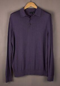 HUGO-BOSS-Men-Collared-Knit-Jumper-Sweatshirt-Size-L-ATZ1088