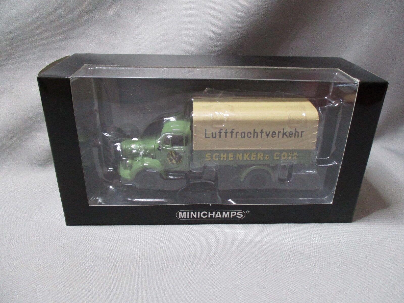 DV8102 MINICHAMPS 1 43 MERCEDES BENZ L3500 SCHENKER 1950 439350028 Ed Lim