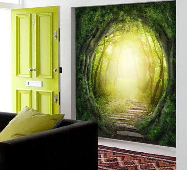 3D Wald Baum Loch 73 Tapete Wandgemälde Tapete Tapeten Bild Familie DE Summer | Wirtschaftlich und praktisch  | Sehr gelobt und vom Publikum der Verbraucher geschätzt  | Einzigartig