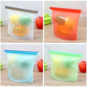 Reusable-Silicone-Storage-Food-Safer-Snack-Sandwich-Bags-Set-of-4-1500ml-1000m