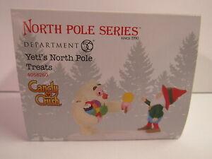 Dept 56 North Pole Yeti's North Pole Treats 4058260 Candy Crush MIP