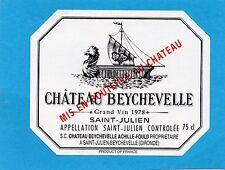 ST JULIEN 4E GCC VIELLE ETIQUETTE CHATEAU BEYCHEVELLE 1978 75 CL RARE §28/03/17§