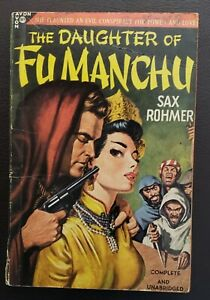 The Daughter of Fu Manchu Sax Rohmer Avon 184 classic GGA vintage paperback