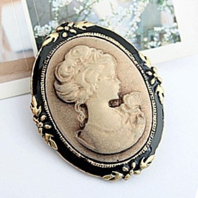 Vintage Cameo Elegant Brooch Pin Antique Wedding Retro Portrait Brooch Pin>a