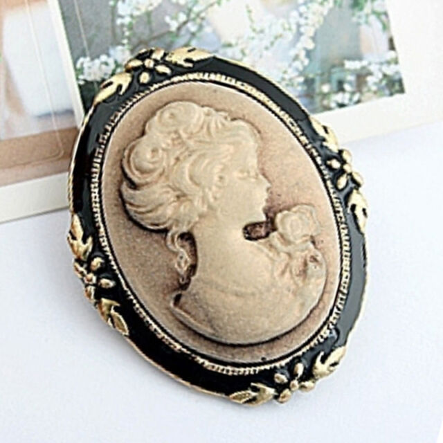 Vintage Cameo Elegant Brooch Pin Antique Wedding Retro Portrait Brooch Pin FR