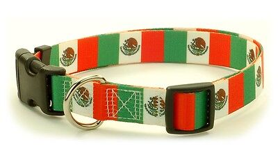 Mexico Mexican flag Dog Pet Collar by PatriaPet 100% Polyester