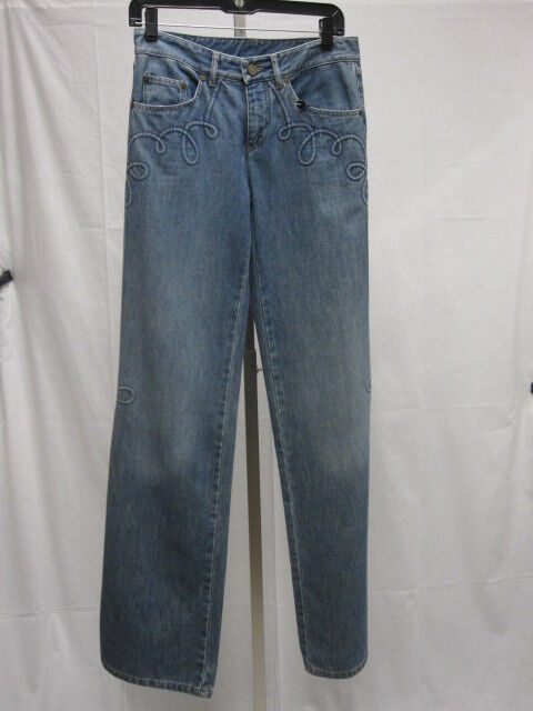 Alexander McQUEEN NWT Corded Denim Bootcut Jeans Size 40