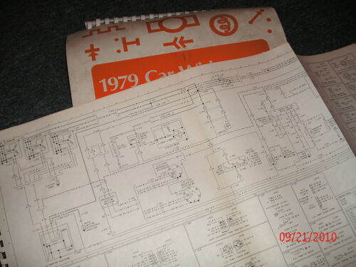 1979 LINCOLN MARK V FACTORY OVERSIZED WIRING DIAGRAMS SCHEMATICS SHEETS SET OEM