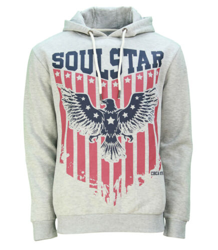 Soul Star Eagle Print Overhead Hoodie New Men's Fleece Sweatshirt Hooded Top