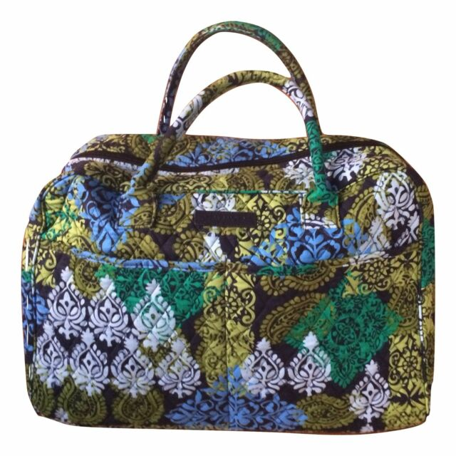 Vera Bradley Weekender Travel Bag Caribbean Sea Pattern Quilted Luggage  14413 b994b6341b59f