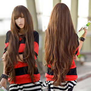 PW-Women-80cm-Long-Curly-Wavy-Style-Cosplay-Full-Hair-Wig-with-Neat-Bangs-USA