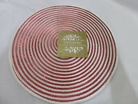 Luxehabitat Valentines Red White Peppermint Metalic Placemats Set Of 4 8 12