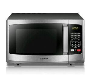 Image Is Loading Stainless Steel Countertop Microwave Oven 900 Watt Kitchen
