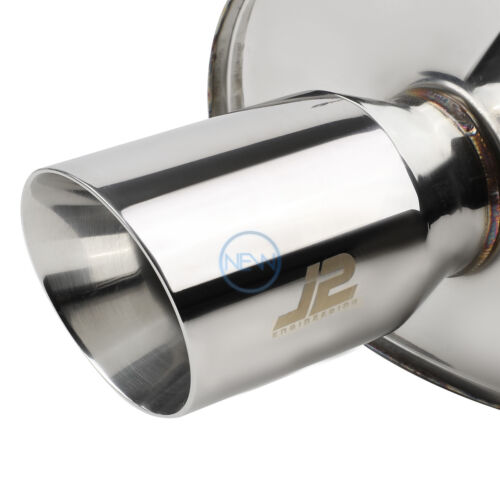 J2 Stainless Steel Dual Wall Muffler Tip Catback System for 2006-09 Eclipse 2.4L