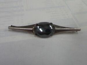 Precious Metal Without Stones 7.00gr Expressive Broche Con Hematita De Plata Maciza