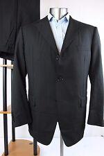 Samuelsohn 44R 38W Black Dual Vent Staple 2pc Suit Formal Jacket Pants