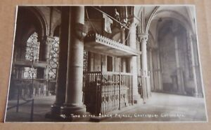 Postcard-tomb-Of-The-Black-Prince-Canterbury-Cathedral-unposted