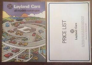 LEYLAND-CARS-orig-1977-UK-Mkt-Brochure-Prices-Jaguar-Daimler-Triumph-Rover