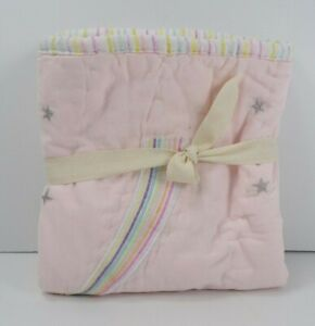 Pottery Barn Kids Rainbow Unicorn Reversible Quilted