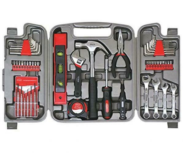 Hand Tool Set Wrenches Precision Screwdriver Storage Gift Him Stainless Steel
